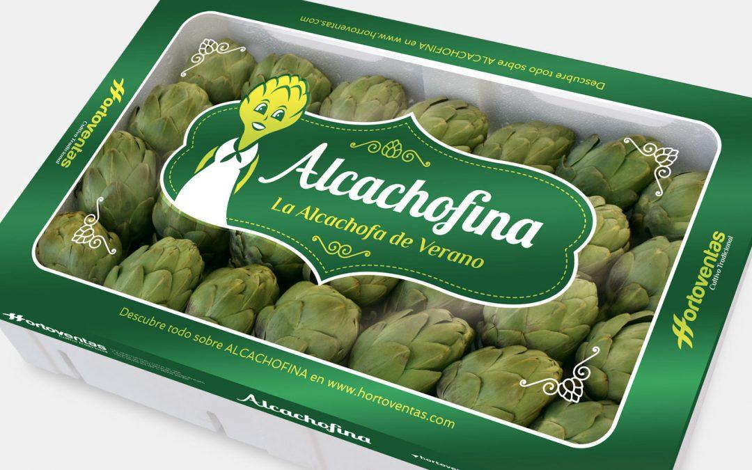 Diseño de envase para marca de alcachofa, Alcachofa de Hortoventas