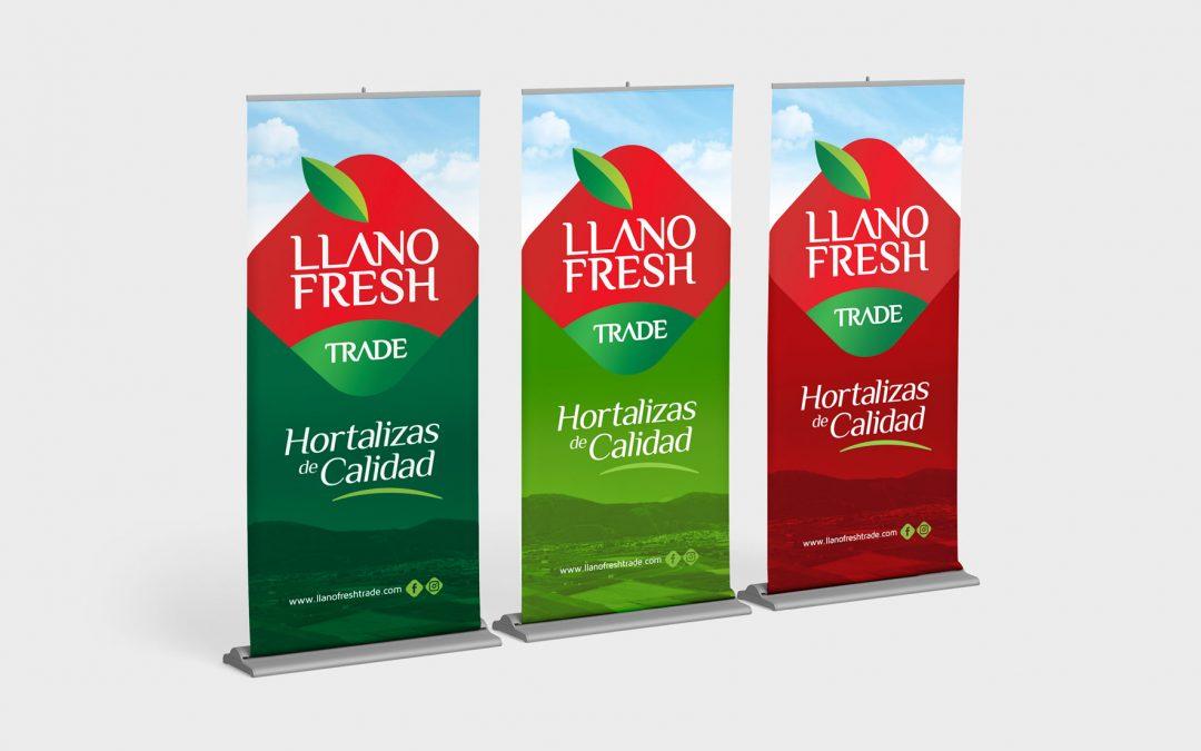 Diseño & Fabricación de Roll Ups para Llano Fresh