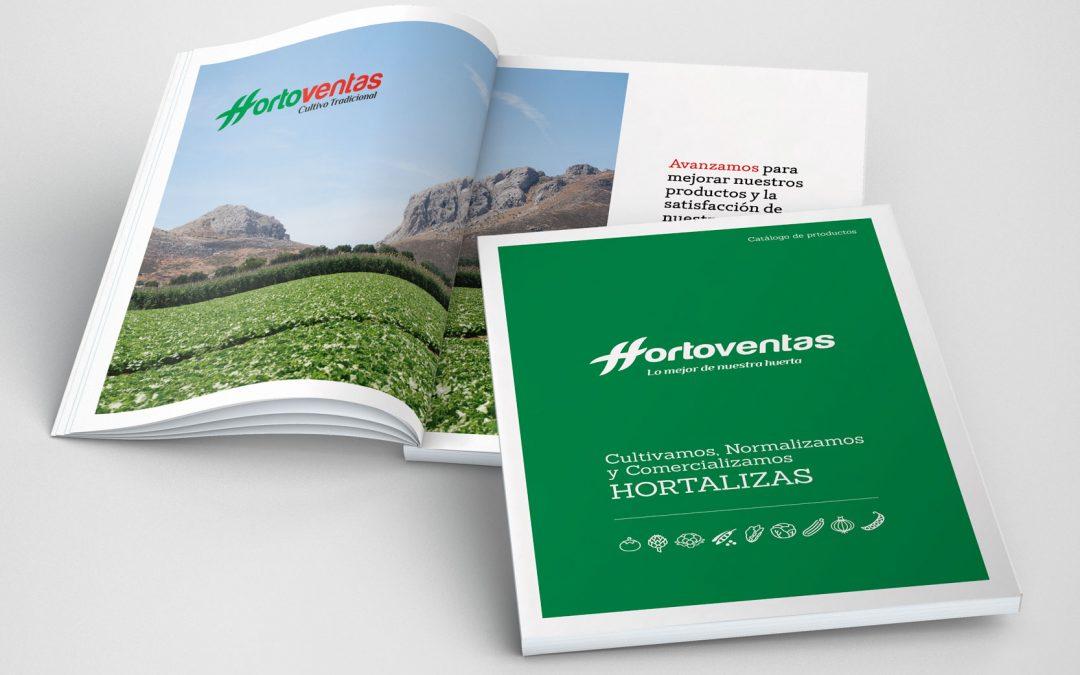 Diseño e Impresión de Catálogo de productos para Hortoventas