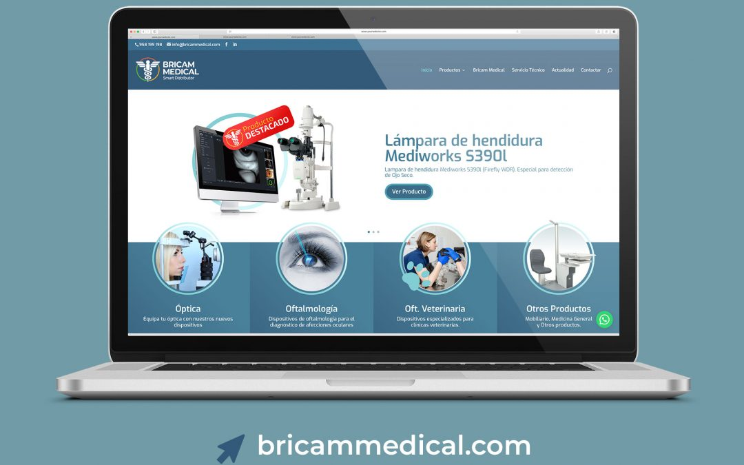 Diseño web para Bricam Medical