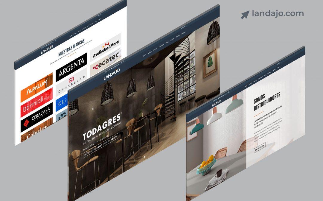 Diseño Web para Landajo Distribuciones