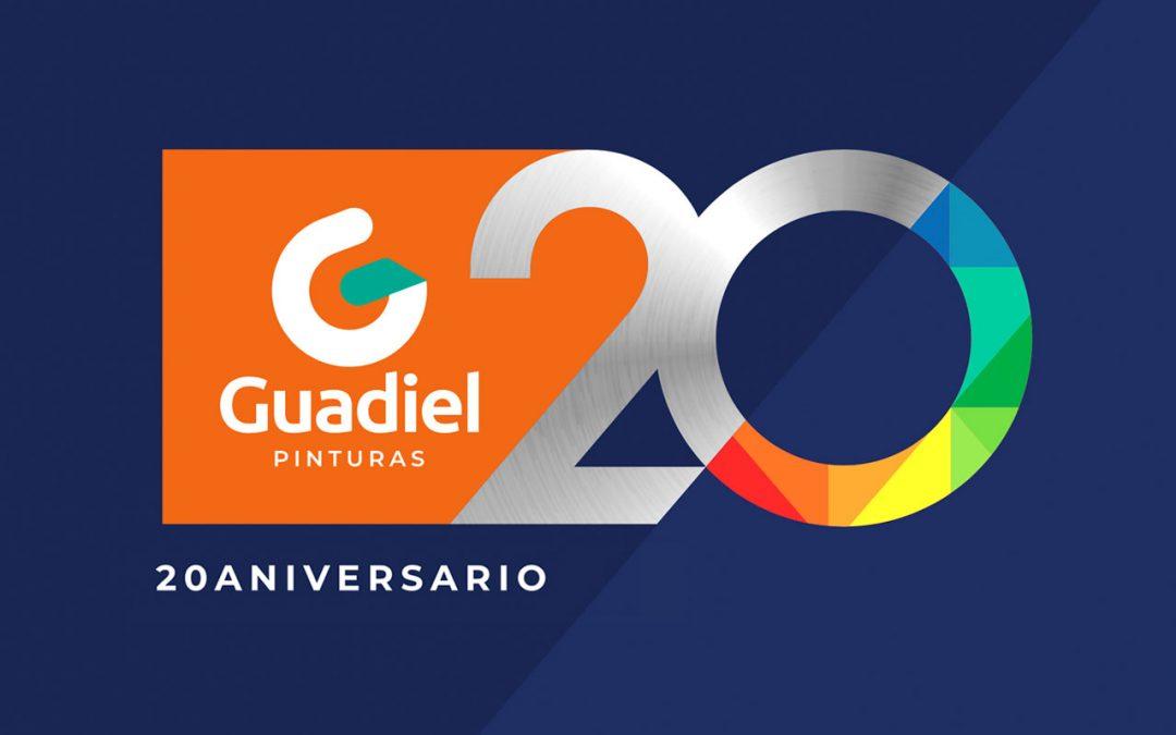 Logotipo conmemorativo para Guadiel Pinturas