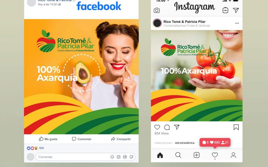 Gestión de Redes Sociales para Rico Tomé & Patricia Pilar