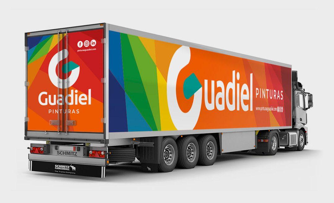Diseño & Rotulación de camión para Guadiel Pinturas