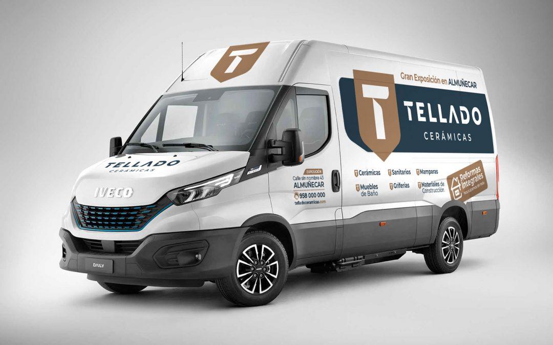 Diseño y Rotulación de vehículos comerciales para Tellado Cerámicas