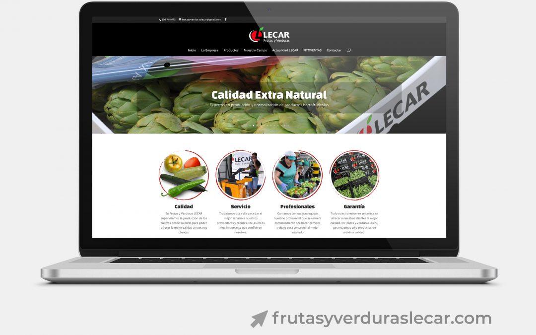Diseño Web para Frutas y Verduras Lecar