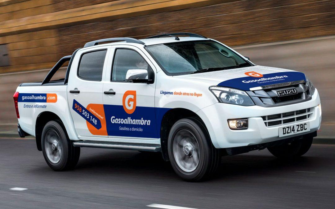 Diseño & Rotulación de vehículos para Gasoalhambra