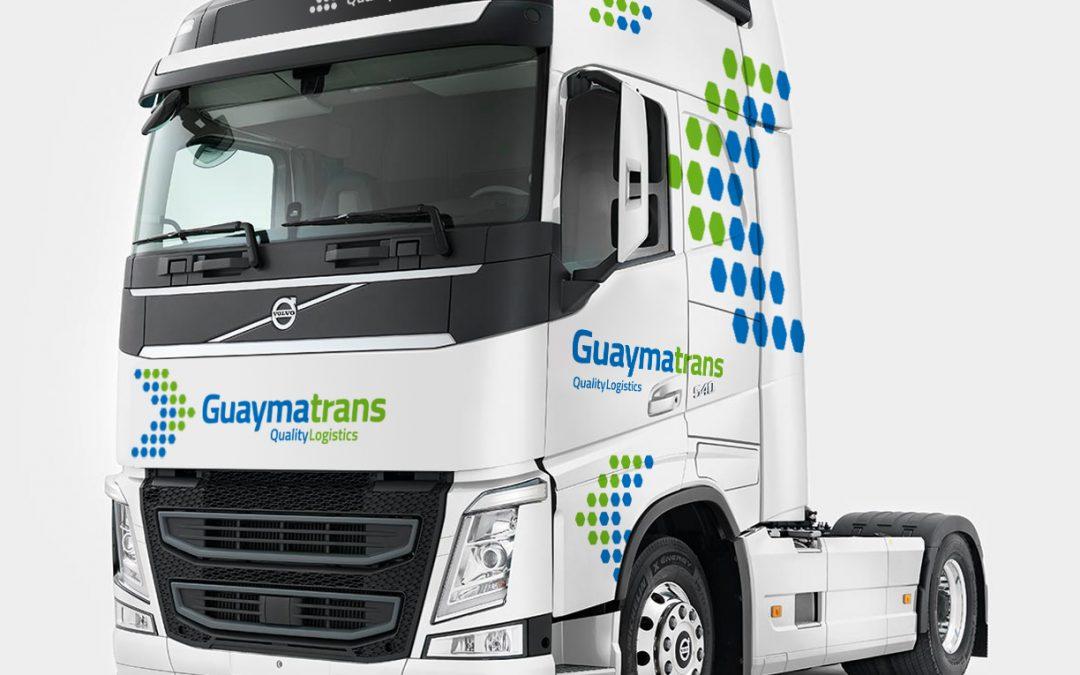 Diseño & Rotulación de flota de vehículos GUAYMATRANS